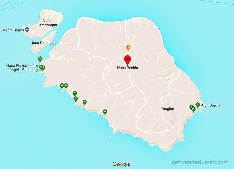 Nusa Penida Map-2