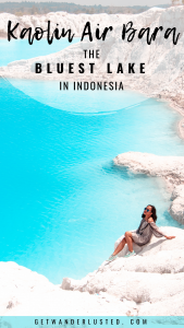 Kaolin Air Bara: The Bluest Lake in Indonesia